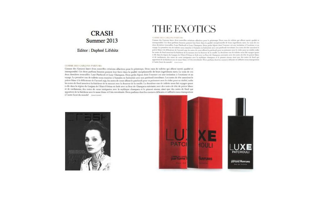 Olaf- Daniel Meyer, Sabine Hartl, Comme des Garçons, Vogue, Luxe, Patchouli, parfum, fragrance, BLACK, Comme des Garçons, Luxe Champaca